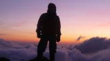 Sunrise above the clouds. In his spare time Daniel is a keen mountaineer.