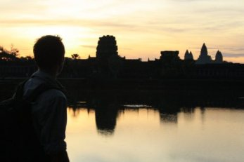 A love for exploring drives Daniel to travel. This photo was taken during sunrise at Angkor Wat, Cambodia.
