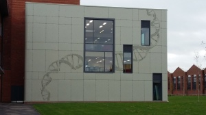 I love the external decoration of the Joseph Banks Laboratories