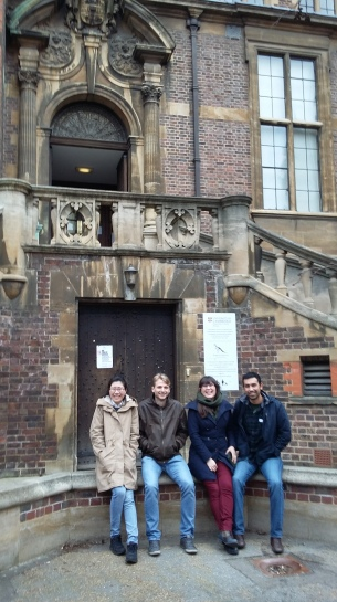 The Hoelzel lab visit Cambridge University