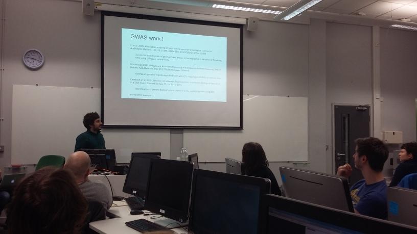 Lectures at the Population Genomics workshop, NBAF, Sheffield University