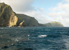 Marine Biology can take you to some interesting and beautiful locations. This is St. Kilda, a remote archipelago of the UK.