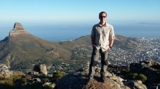 Half way up the obligatory ascent of Table Mountain, Cape Town